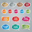Set of colorful vector stickers - Stok Vektr