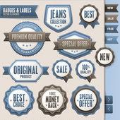 Colección de vectores insignias y etiquetas — Vector de stock