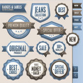 Collection of vector badges and labels — Vector de stock