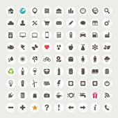 Ensemble d'icônes web — Vecteur