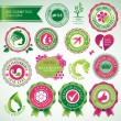 Set of cosmetics badges and labels — Stock Vector #12638727