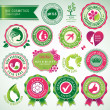 Set of cosmetics badges and labels — Stock Vector