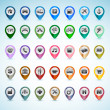 Stock Vector: Set of GPS icons