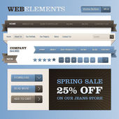 Set of web elements — Vettoriale Stock