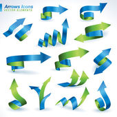 Set of arrows icons — Stock Vector