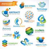 Conjunto de iconos abstractos — Vector de stock
