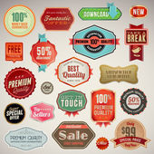 Set of vector labels and stickers — Vettoriale Stock