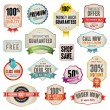 Stock Vector: Set of badges and labels
