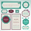 Royalty-Free Stock Vector Image: Set of wedding invitation cards