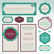 Set of wedding invitation cards — Imagen vectorial