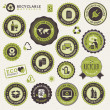 Set of labels and stickers for recycling — Stock Vector #12865201