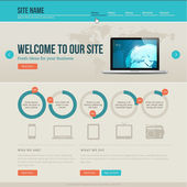 Vintage website template — Stock Vector