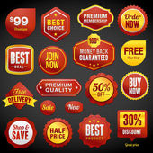 Zestaw wektor znaczki i naklejki — Wektor stockowy