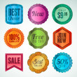 Set of labels and stickers — Stock Vector #13185914