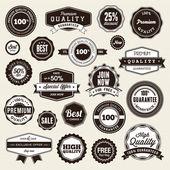 Aantal labels en stickers — Stockvector