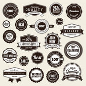 Set of labels and stickers — Vector de stock