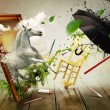 Magical world of painting — Foto de Stock