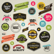 Vector de stock : Set of stickers and ribbons
