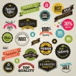 Royalty-Free Stock Vector Image: Set of stickers and ribbons