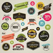 Etiket ve şeritler — Stok Vektör