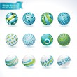 Set of abstract globe icons — Vector de stock