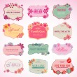 Set of cosmetics labels and stickers — Stock vektor