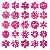 çiçek simge kümesi — Stok Vektör