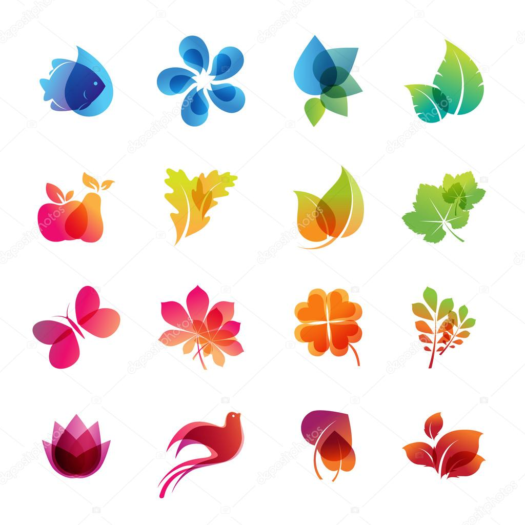 Nature Colors For Facebook Colorful Vector Nature Icon