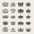Set of crown icons - Vektorgrafik