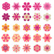 Abstract flower icons — Stock Vector #13684896