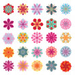 Set of colorful flower icons — Stock Vector #13863416