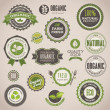 Set of organic badges and labels — Imagens vectoriais em stock