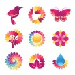 Set of colorful icons — Stock Vector