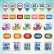 Set of stickers and labels — Stock Vector