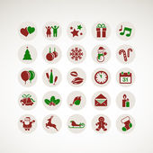 Set of icons for New Year and Christmas — Stock Vector