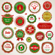 Stock Vector: Set of badges and stickers for Christmas and New Year