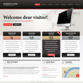 Website design template — Vettoriale Stock