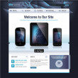 Vector de stock : Website design template