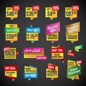 Conjunto de adesivos e emblemas — Vetorial Stock