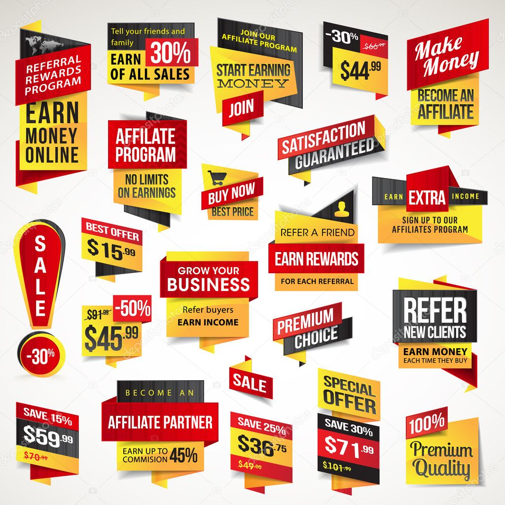 Sales Banners Banners For Sale — Vector