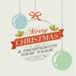 Vintage Christmas card with Christmas decorations — Stock Vector #16022287