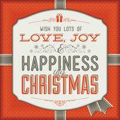 Weinlese-weihnachtskarte — Stockvektor