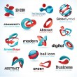 Royalty-Free Stock Vector Image: Set of business abstract icons