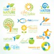 Set of nature icons - Imagen vectorial