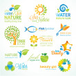 Set of nature icons - Stock Vector