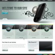 Website design template — Vector de stock #16937045
