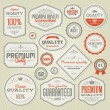 Set of vintage labels and stickers — Stock Vector