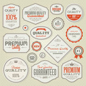 Set of vintage labels and stickers — Vetor de Stock