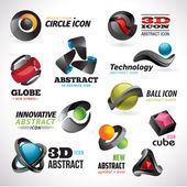 Set of abstract icons — Stock Vector