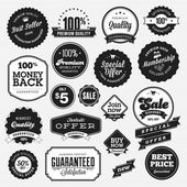 Set of badges and stickers for sale — Stock Vector